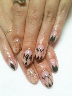 negative space nail #nail #nails #nailart #unha #unhas #unhasdecoradas