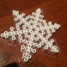 Snowflake hama beads by iannel82