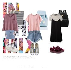 Casual 1 by jennifersanchezthevenin-1 on Polyvore featuring moda, WithChic, Topshop, Puma and Sugarbaby