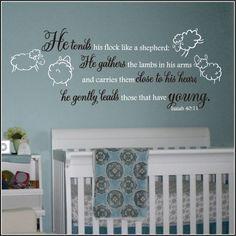 Lamb and Sheep Nursery Wall Decals ... Church nursery?