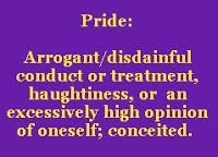 Haughty Spirit Before a Fall   ... us that pride goes before destruction and a haughty spirit before