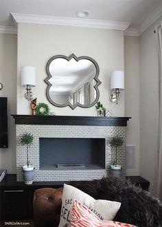 Brooklyn Limestone blog | Love the mirror, sconces, fireplace
