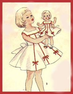 """vintage pattern for 14"""" dolls - (Not sure if it will fit H4H dolls but it's worth investigating)"""