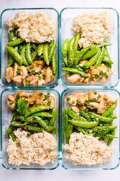 Clean Eating Diet Healthy Teriyaki Chicken Meal Prep with lean chicken breast and bright crispy snap peas coated in healthy teriyaki sauce, served with brown rice. This lunchbox will make your co-workers jealous! Healthy Family Meals, Healthy Meal Prep, Healthy Foods To Eat, Healthy Snacks, Healthy Eating, Family Recipes, Dinner Healthy, Simple Healthy Meals, Easy Meal Prep Lunches