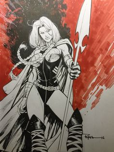 The coolest comic book art you won't see in comics. Valkyrie by Ryan Ottley