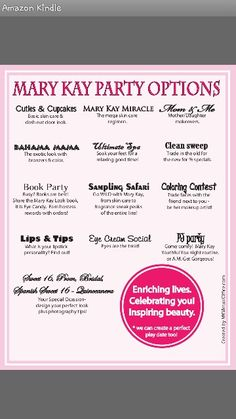 Contact me to host a party #marykay www.marykay.com/npetock