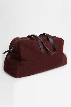A deep burgundy is a seasonal staple.  #refinery29 http://www.refinery29.com/duffel-bags#slide-23
