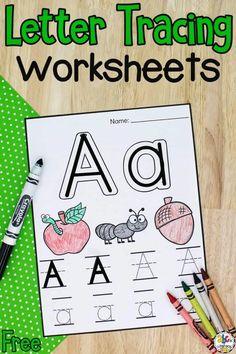 Letter Tracing Worksheets: Free Printable Preschool Worksheets