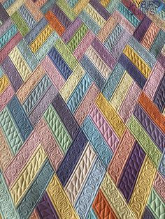 quilting ideas Jaybird Quilts: Ribbon Candy - Introducing my latest pattern, Ribbon Candy! I had planned on this pattern being announced before my son was born, but. Ribbon Candy is made using the Super Sidekick ruler and there's no Y seams. Jaybird Quilts, Jellyroll Quilts, Scrappy Quilts, Easy Quilts, Colchas Quilting, Machine Quilting Patterns, Quilt Stitching, Quilting Ideas, Quilting Projects