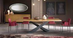 Cette table de salle à manger fera de votre intérieur une vraie référence en matière de design! Disponible avec un plateau en bois ou verre trempé.
