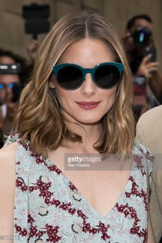 Olivia Palermo attends the Valentino Haute Couture Fall/Winter show as. Olivia Palermo a Olivia Palermo Outfit, Estilo Olivia Palermo, Olivia Palermo Lookbook, Olivia Palermo Style, Clavicut, Winter Mode, Fall Winter, Winter 2017, Wavey Hair