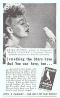 French's Bird Seed Betty Hutton 1943 Ad Picture