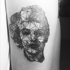 "Geometric Animal Tattoo | Share the post ""Geometric Portraits by Tattooist Diana Katsko"""