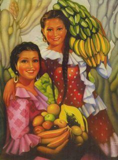 Museo CJV - Título: Fruta verde y madura Autor: Jorge González Camarena Técnica:Litografía Offset-Galas-México Medidas: 27.5x21 cm.