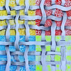Ribbons interwoven and Zentangle 3rd Grade Art Lesson, 8th Grade Art, Art Lessons For Kids, Art Lessons Elementary, High School Art, Middle School Art, Art Curriculum, School Art Projects, T Art