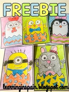 Drawing Easter Friends FREE