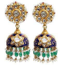 Quick Guide to Famous Indian Jewellery Styles Jhumki Earrings, Indian Earrings, Asian Bridal Jewellery, Wedding Jewelry, Diamond Jewelry, Jewelery, Silver Jewelry, Silver Rings, India Jewelry
