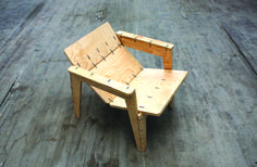 Plywood and Zip-tie Lounge Chair