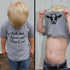 """Ask My Moo Cow"" Kids Tee"