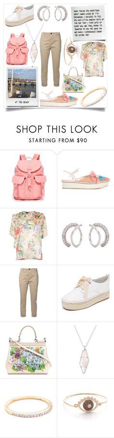 """Fashion rose"" by emmamegan-5678 ❤ liked on Polyvore featuring Della, Herschel Supply Co., Delpozo, Rochas, Lynn Ban, Closed, Sol Sana, Dolce&Gabbana, Kendra Scott and Adina Reyter"