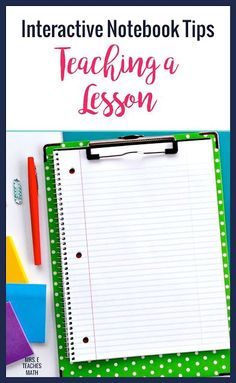This post explains how to teach a lesson using interactive notebooks. It explains how to structure middle school and high school class periods and keep students engaged. Algebra Interactive Notebooks, Geometry Interactive Notebook, Math Notebooks, Reading Notebooks, High School Classes, High Schools, School Tips, School Hacks, Teaching Math