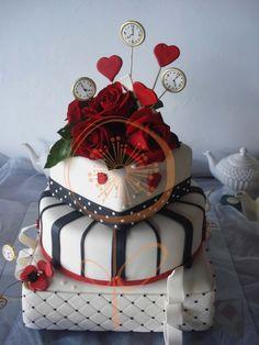 tortas de alicia en el pais de las maravillas para 15 años - Buscar con Google