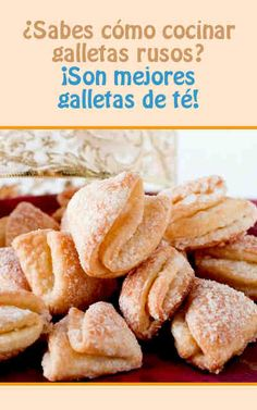 #galletas RUSIAN. EXIYO TOT Cookie Recipes, Snack Recipes, Snacks, Mexican Dessert Recipes, Pan Dulce, Tasty, Yummy Food, Coconut Cookies, Russian Recipes