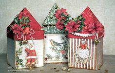 Poczekalnia Aka: Kurs: Świąteczne domki / Tutorial: Christmas houses