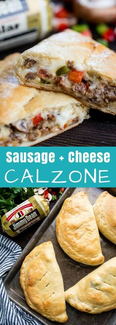 This Sausage and Cheese Calzone has a made-from-scratch dough that's stuffed with flavorful Jimmy Dean Premium Pork Sausage and cheese for a delicious dinner that is sure to please.
