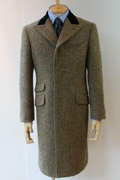 "VESTA 東京ジョンフォード VESTA's Overcoat Model ""S. Chesterfield"" ; Single Breasted chesterfield coat"