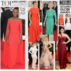 """Top Red Carpet Looks 2014 Golden Globes"" by jewelryrecipe on Polyvore"