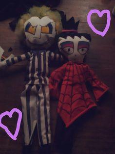 Muñecos de tela Beetlejuice y Lydia