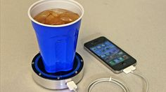 This Coaster Will Charge Your Phone. Place a hot or cold beverage on the surface and let your drink do all the work.
