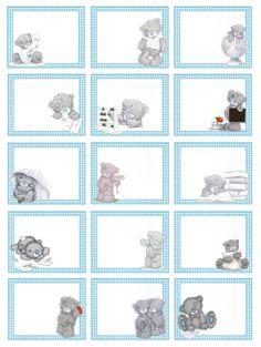 il mio angolo creativo: Etichette per la scuola per maschietti Digital Paper Freebie, Teddy Pictures, Free Printable Stationery, Baby Boy Themes, Blue Nose Friends, Tatty Teddy, Stationery Paper, Mothers Day Crafts, Baby Scrapbook