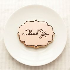 Galletas - Cookies - Wedding Thank You Cookie Favors - Place Cards - 1 doz - Seating Cards - Bridal Shower - Spring Wedding - Blush & Black Bolacha Cookies, Galletas Cookies, Iced Cookies, Cute Cookies, Royal Icing Cookies, Cookies Et Biscuits, Cupcake Cookies, Sugar Cookies, Baby Cookies