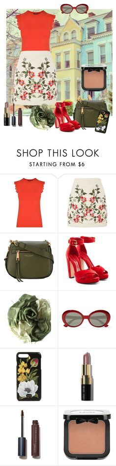 """Untitled #1839"" by zettirik ❤ liked on Polyvore featuring Ted Baker, Topshop, Marc Jacobs, Alexander McQueen, Yves Saint Laurent, Dolce&Gabbana, Bobbi Brown Cosmetics and NYX"