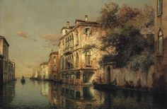Antoine Bouvard (French, 1870-1956)  A Venetian backwater  signed with pseudonym 'Marc Aldine' (lower right)