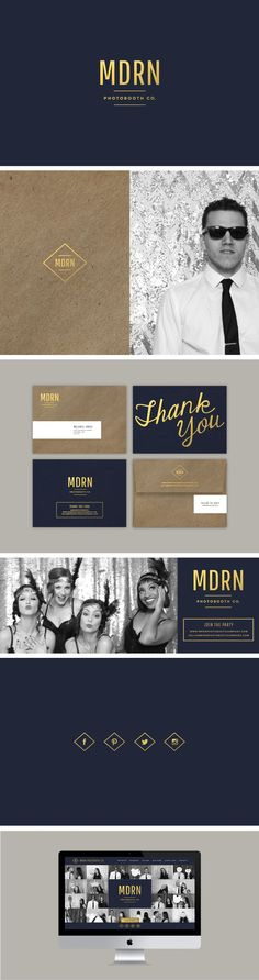 Beautiful branding! The gold foil matched with both the solid blue and textured brown looks fantastic.