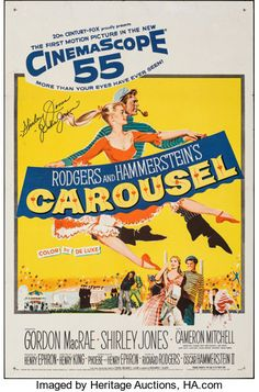 Carousel (20th Century Fox, 1956). Folded, Very Fine-. Autographed | Lot #51073 | Heritage Auctions
