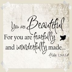 you are beautiful for you are fearfully and wonderfully made wall decal from www.tradingphrases.com