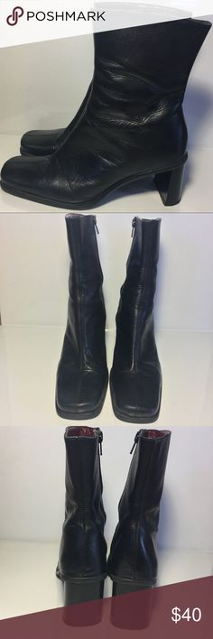 Treviso 🇮🇹 Black Leather Ankle Boots Treviso Black Leather Ankle Boots handmade in Italy. 😁EUC 😁 Treviso Shoes Ankle Boots & Booties