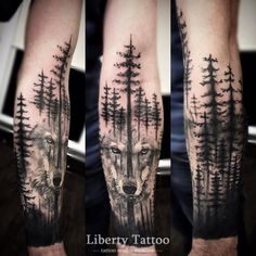 60 Ideas tattoo hombre pierna tat for 2019 Forest Tattoo Sleeve, Nature Tattoo Sleeve, Wolf Tattoo Sleeve, Forearm Sleeve Tattoos, Best Sleeve Tattoos, Wolf Tattoo Forearm, Forarm Tattoos, Leg Tattoos, Body Art Tattoos