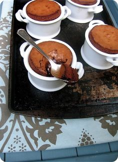 Espresso and chocolate fondants
