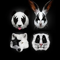 Róbert Farkas Kiss of Animals Poster - $19