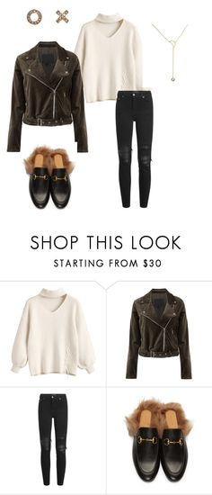 """Fall Pieces"" by suetables on Polyvore featuring Paige Denim, AMIRI, xO Design and Gucci"
