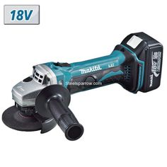 100mm Cordless Angle Grinder (18.0 V,Li-Ion,2 B),  Model - BGA402RFE, Brand - Makita Check for best price@ https://www.steelsparrow.com/electrical-power-tools/electrical-grinders/cordless-angle-grinder.html Enquiry: info@steelsparrow.com