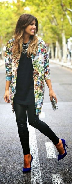 Spring street style: mix those florals with leather and solids.  Get inspired by the creator of Sex and The City in the new series 'Younger.' Discover full episodes at http://www.tvland.com/shows/younger.