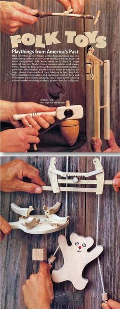 #1799 Wooden Folk Toys Plans - Children's Wooden Toy Plans and Projects | http://WoodArchivist.com