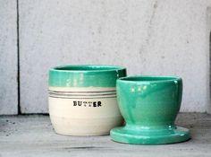 French butter crock ceramic butter keeper lidded by claylicious Natural Forms, Natural Texture, Butter Brickle, Butter Pecan, Butter Bell, Butter Pasta, Butter Shrimp, Garlic Jar, Butter Crock
