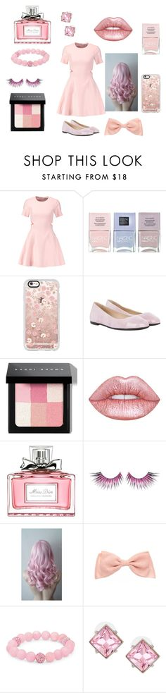 """Pastel Pink Overload!"" by mimsymoo ❤ liked on Polyvore featuring Elizabeth and James, Nails Inc., Casetify, HUGO, Bobbi Brown Cosmetics, Lime Crime, Christian Dior, MAKE UP FOR EVER, Palm Beach Jewelry and Kenneth Jay Lane"